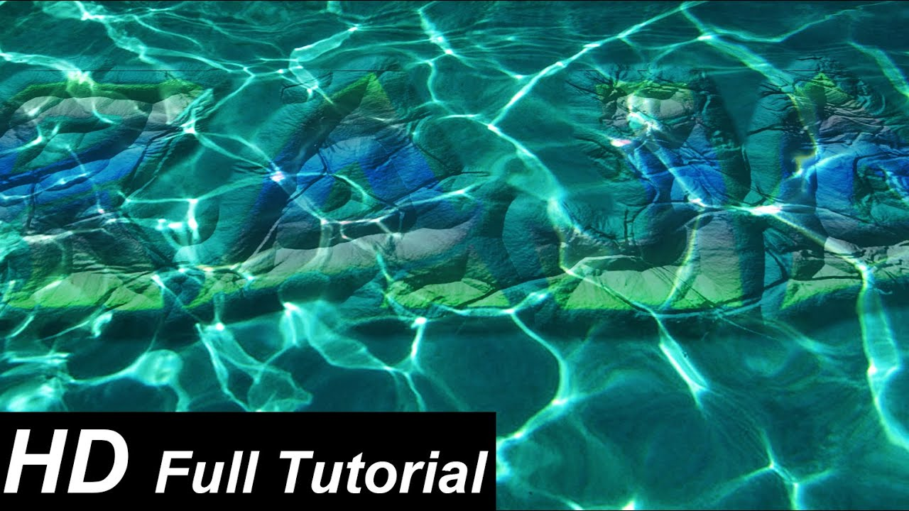 Photoshop Tutorial: How To Create Under Water Text Written On Stone In  Photoshop (In URDU)