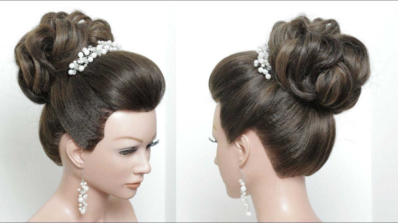 beautiful wedding bun hairstyle