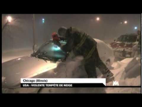 USA violente tempête de neige (CHICAGO)