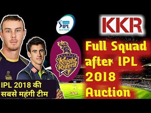 IPL 2018: KKR Kolkata Knight Riders full players list and Squad, Chris Lynn, Starc,Russel, Nagarkoti