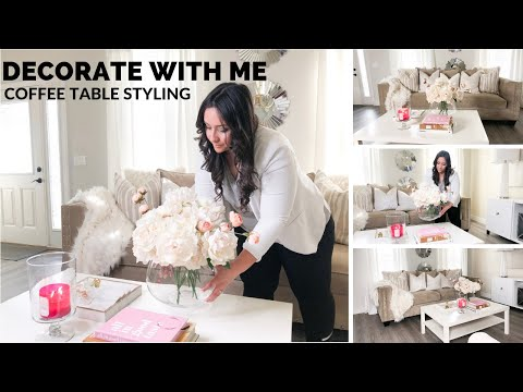 DECORATE WITH ME | COFFEE TABLE STYLING