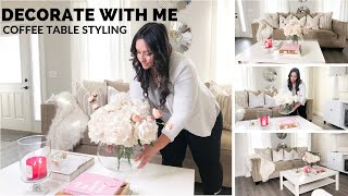 DECORATE WITH ME   COFFEE TABLE STYLING