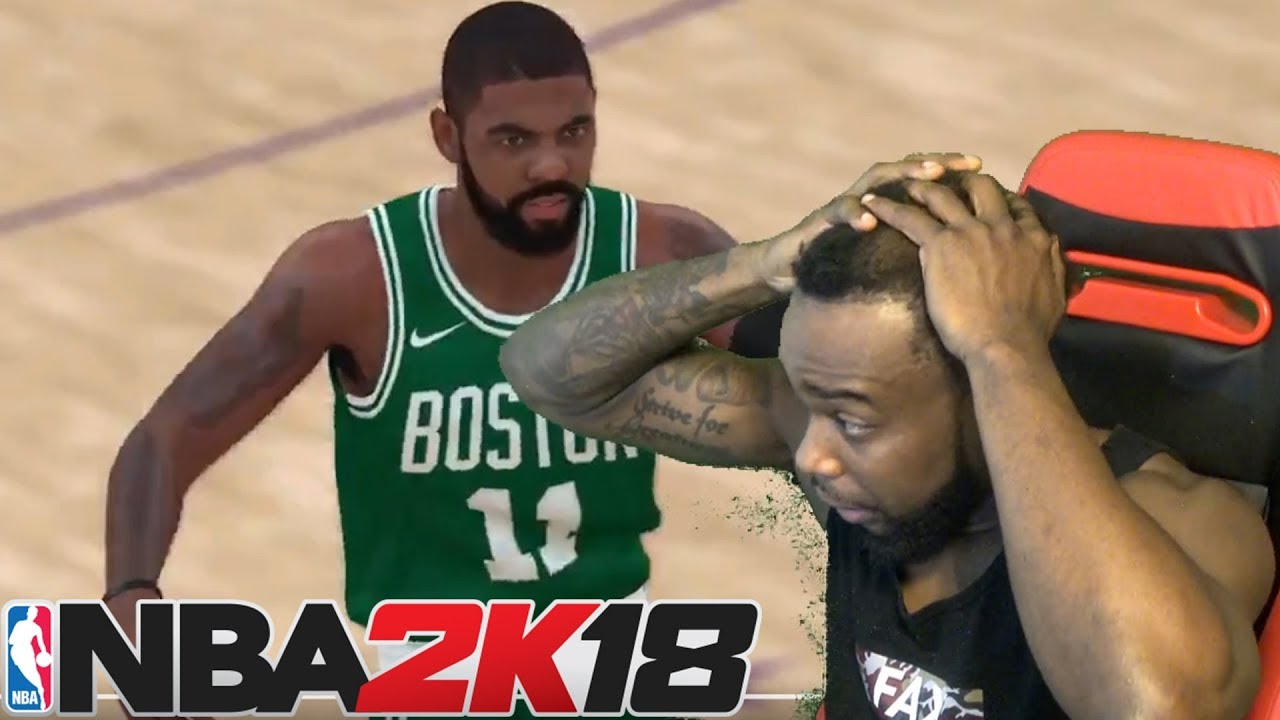 competitive price d9f10 091ff NOOO! KYRIE IRVING IN A BOSTON CELTICS JERSEY! NBA 2K18 Gameplay