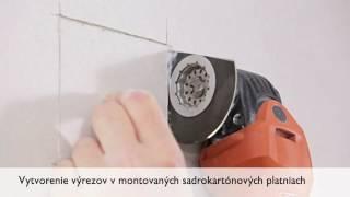 Vyrezávanie otvorov do sadrokartónu - FEIN MultiMaster