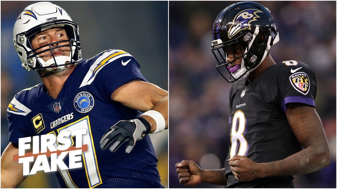 timeless design e8845 13cfe Lamar Jackson will have a better game than Philip Rivers - Stephen A. l  First Take