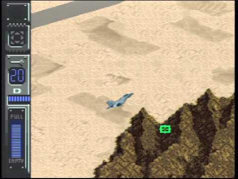 [SFC] Desert Fighter (J) - Intro \u0026 Demo Play