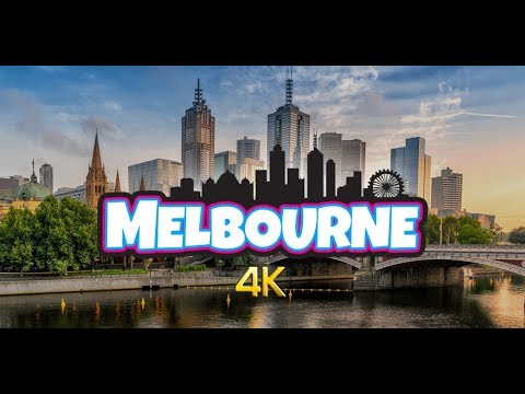 Melbourne City - Victoria, Australia in 4K (with Relaxing Music of 20 minutes)