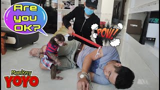 What does YoYo Jr do when a stranger attacks his dad?