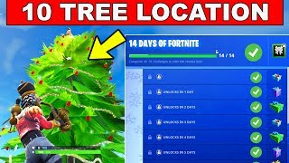 Day 9 REWARD - Dance in front of different Holiday Trees- 14 Days of Fortnite Challenges for Rewards