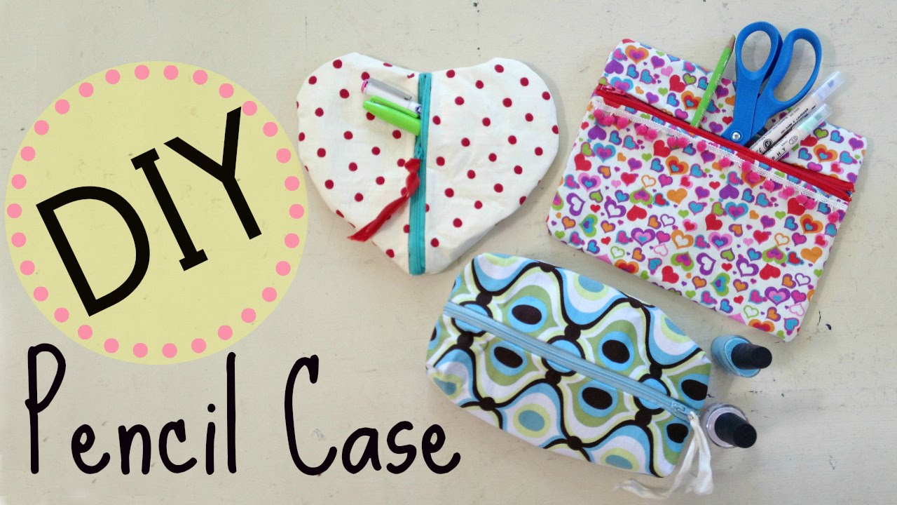 Diy pencil case makeup bag no sew project by michele baratta diy pencil case makeup bag no sew project by michele baratta youtube solutioingenieria Images
