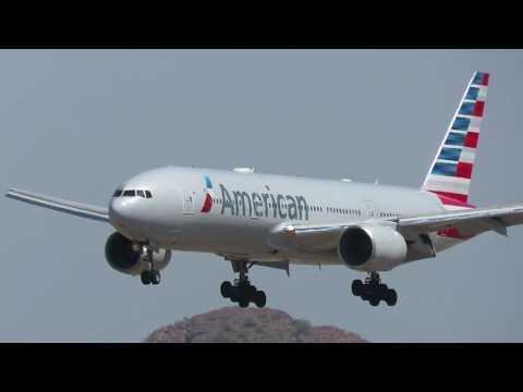 American Airlines 777-200ER At Phoenix Sky Harbor