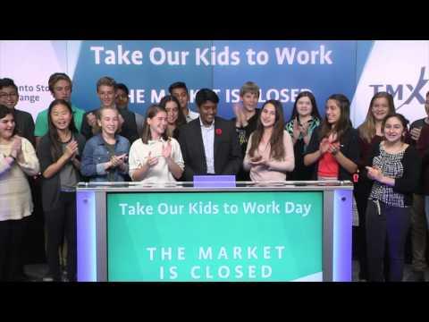 Take Our Kids to Work closes Toronto Stock Exchange, November 2, 2016