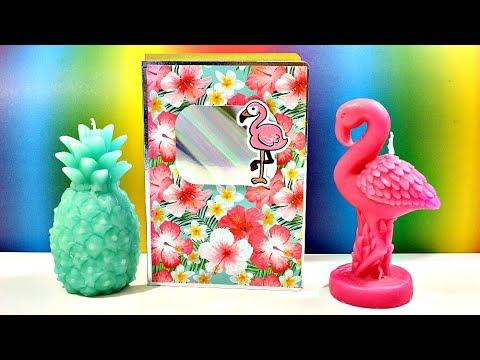 basteln hefte versch nern flamingo back to school ideen tagebuch selber machen youtube. Black Bedroom Furniture Sets. Home Design Ideas