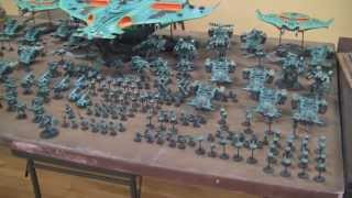 Tau Mega Army 12,000 Pts With Manta And Tigersharks- Blue Table Painting