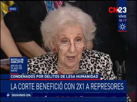 """CN23 - Estela de Carlotto: """"El Gobierno quiere borrarnos de la historia"""""""