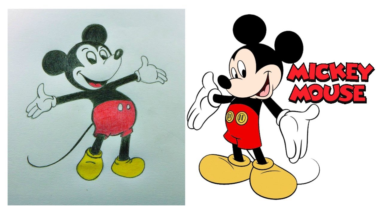 It is a photo of Rare Mickey Mouse Pencil Drawing