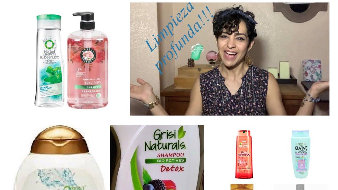 Tipos de shampoos para limpieza profunda (ejemplos con fotos).
