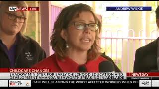 Sky News Doorstop - Child Care 03/07/2018