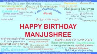 Manjushree   Languages Idiomas - Happy Birthday
