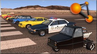 BeamNG Drive Drag Car Node Pulling Who Will Pull The Furthest #3