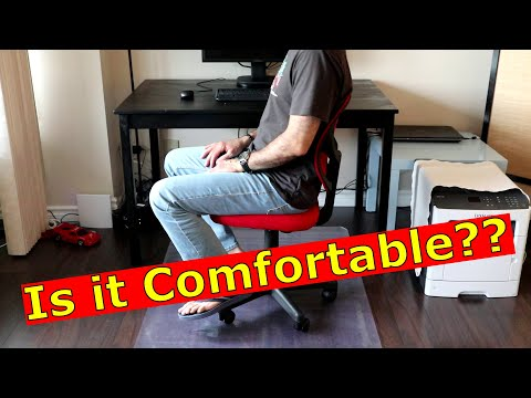 Amazon Basics Low Back Computer Chair Unboxing assembly and comfort test