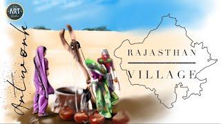 Rajasthan Village Painting 2018