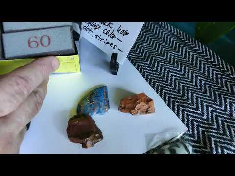 Using Sanding Sponge Blocks on jewelry, stones, and small crafts.
