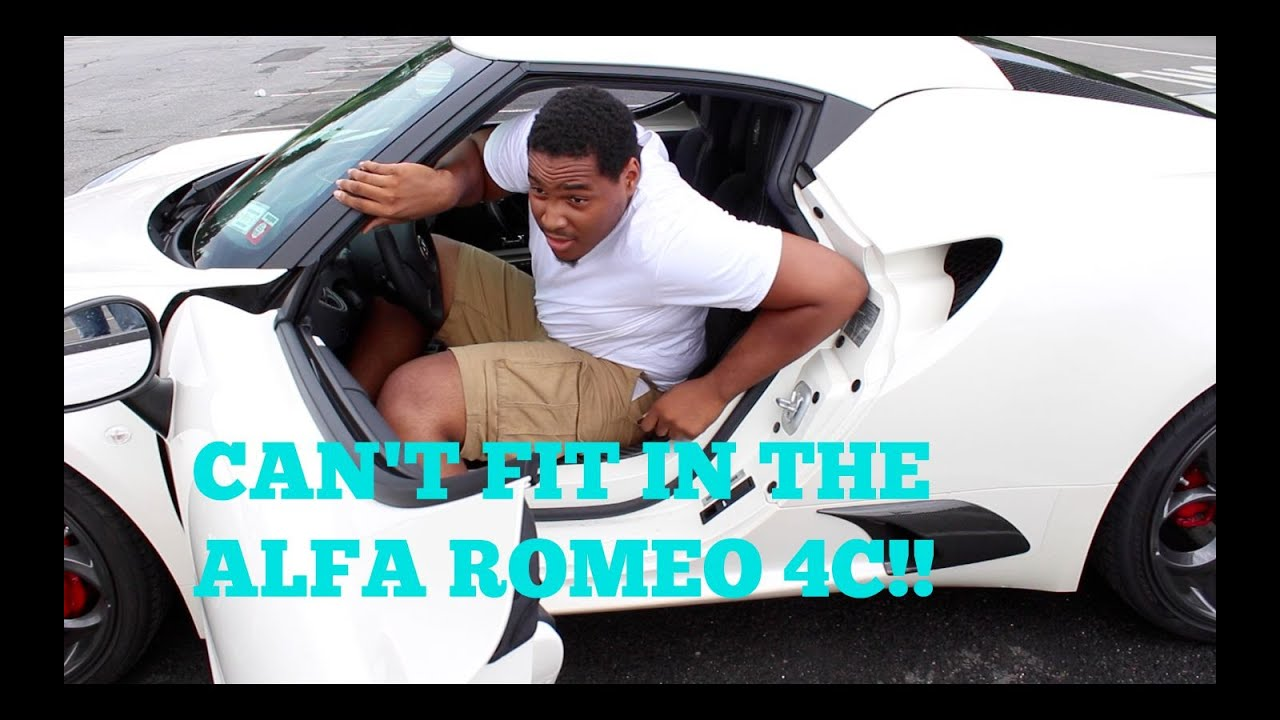 Can I Fit In An Alfa Romeo C Big And Tall Car Review YouTube - Sports cars for tall guys