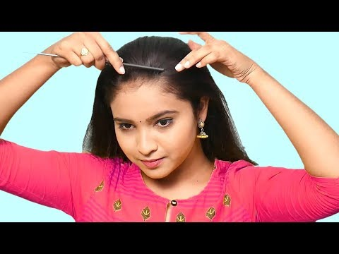 Easy Self Hairstyles | How to Make Perfect Puff Hairstyle | Quick Hairstyles for Medium Thin Hair