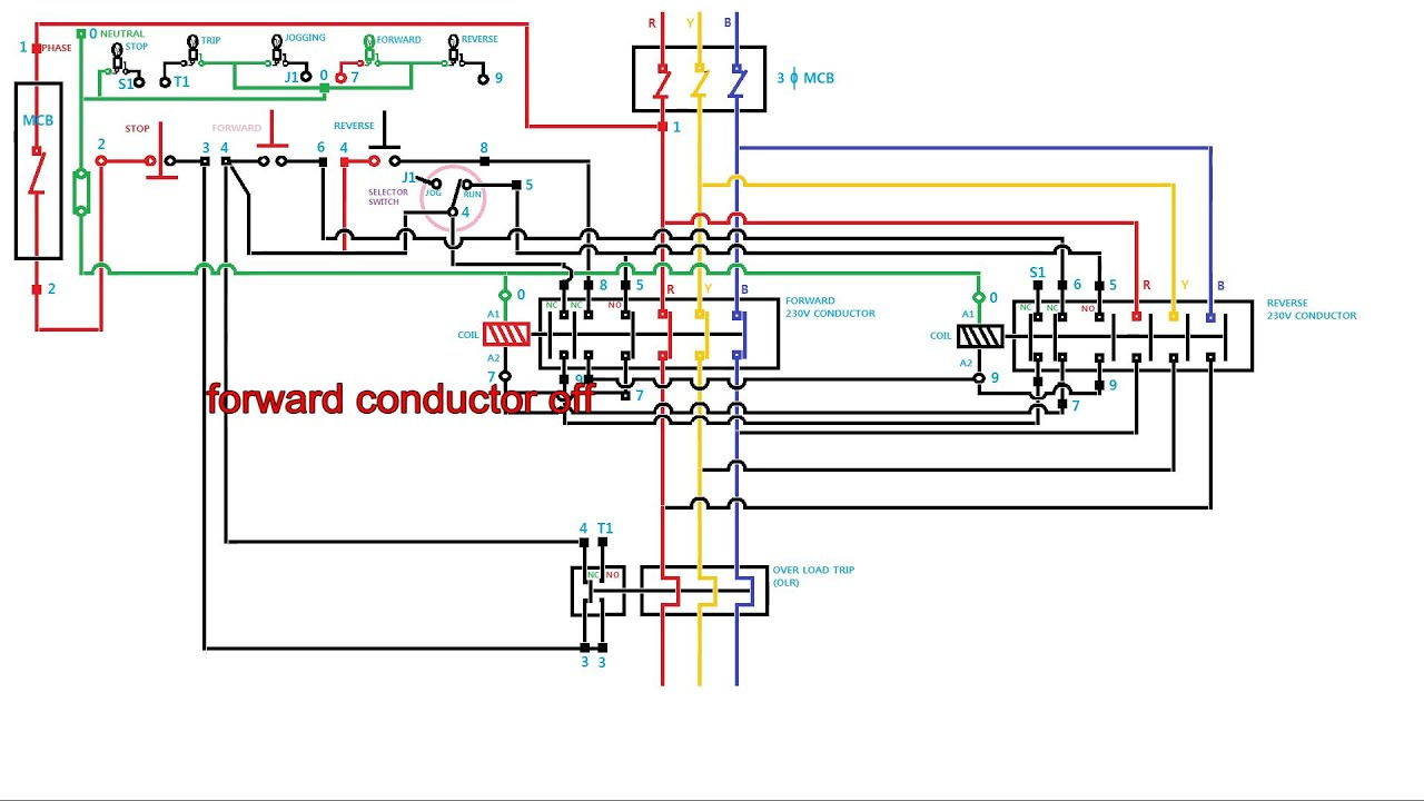 How To Wire Contactor And Overload Relay Contactor Wiring. Working ...