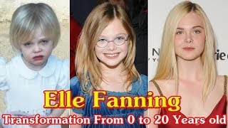 Elle Fanning transformation from 0 to 20 years old
