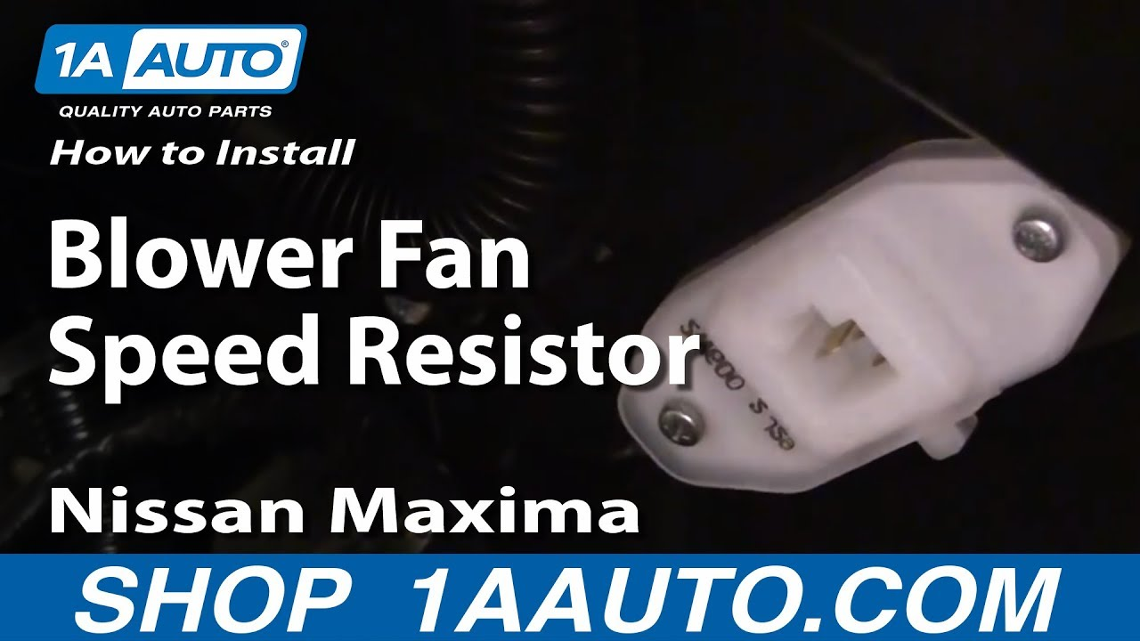 How To Fix Install Blower Fan Speed Resistor 2000 03 Nissan Maxima Infiniti M30 Wiring Diagram Youtube
