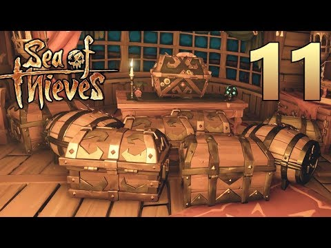 [11] WE ARE RICH!!! The Captain's Treasure Room! (Sea Of Thieves Gameplay PC)