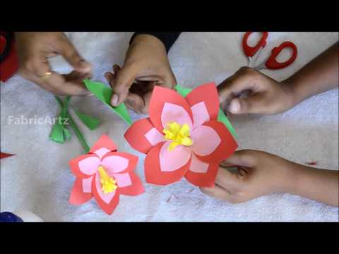 crafts-for-kids-easy-to-do-at-home-|-how-to-make-flower-sticks-with-3-petal-cutting