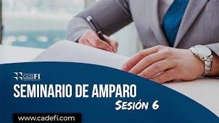 Cadefi - Seminario de Ley de Amparo Sesión 6 - 08 Septiembre 2020