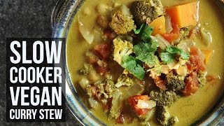 Slow Cooker Vegan Curry Stew