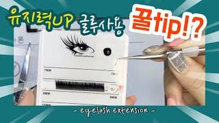 유지력UP 속눈썹 글루 사용 양 꿀TIP!?  eyel…