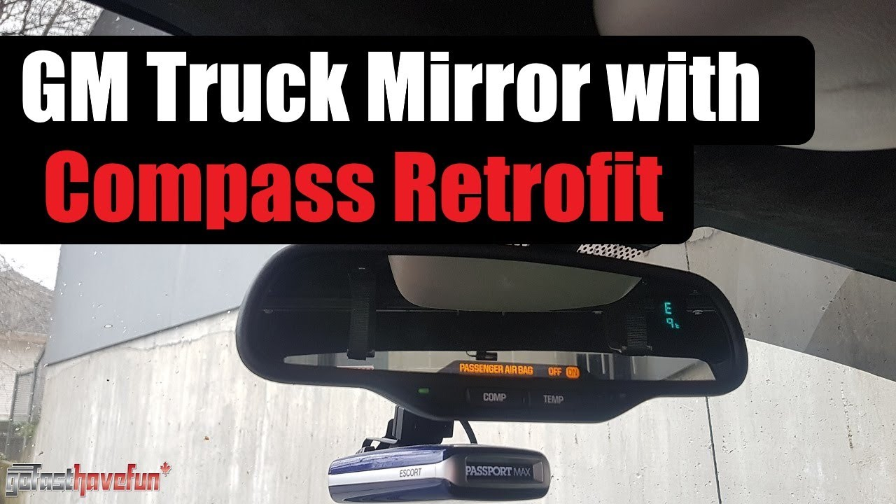 Mirror With Compass And Airbag Light Indicator Install 2003 2007 Silverado Sierra Retrofit Youtube