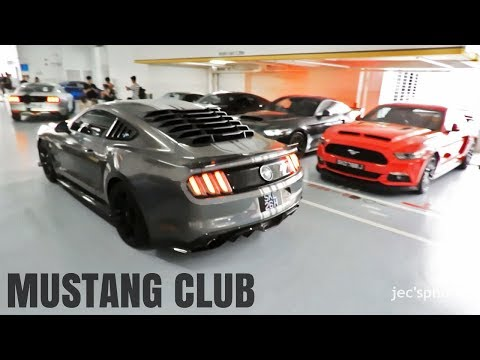 Mustang Owners Club Singapore Revving and leaving a Ford Meet