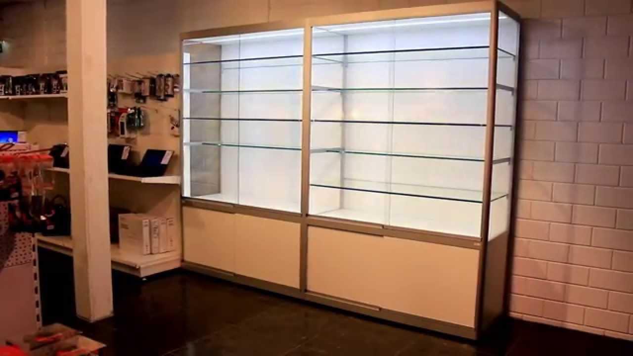 Ledvitrinekasten, LED Vitrinekast, LED vitrine, ledvitrines - YouTube