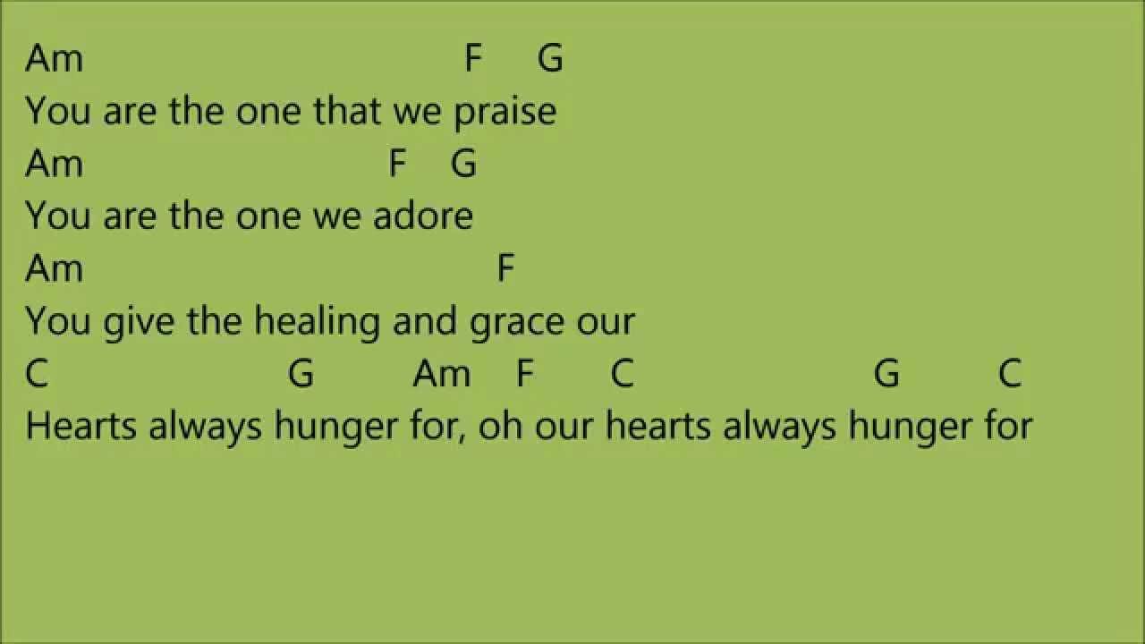 Wonderful, Merciful Savior Chords - Worship Chords