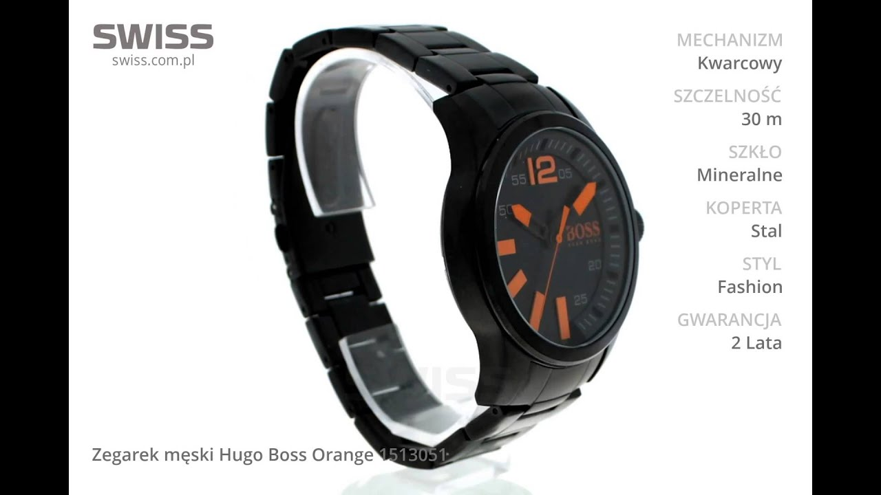 602cf2b26ebab www.swiss.com.pl - Zegarek męski Hugo Boss Orange 1513051 - YouTube