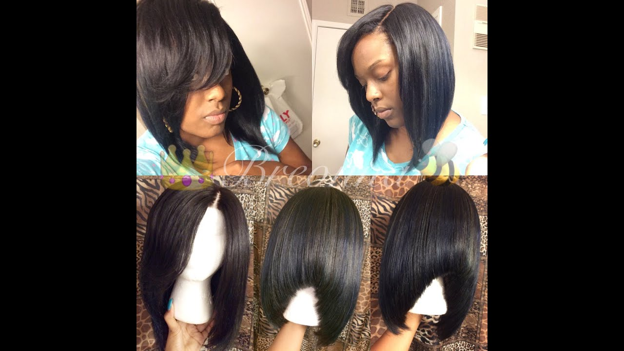 How To Make A Custom Wig With Lace Closure Bob Youtube