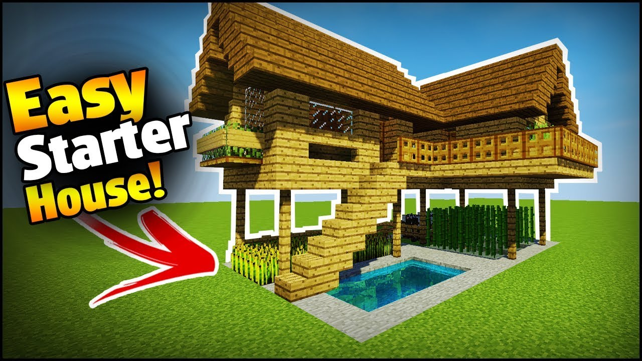 Minecraft  Starter  Survival House Tutorial - How To Build An Easy House  Base In Minecraft