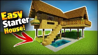 Minecraft: Starter/Survival House Tutorial - How to Build an Easy House/Base in Minecraft