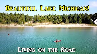 Beautiful Lake Michigan - Living on the Road