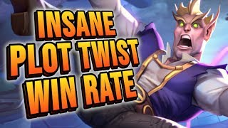 INSANE Plot Twist Win Rate!! | Rise of Shadows | Hearthstone