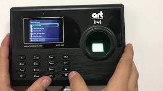 Art 500 Parmak İzi Okuyucu Tanıtma Terminali Video