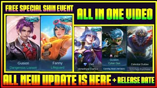 Free Special Skin Event, All New Upcoming Skin & New Event plus Release Date in Mobile Legends