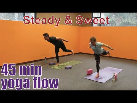 45 Minute Yoga Class Steady Sweet Flow Youtube